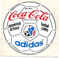 Autocollant COCA COLA CHAMPIONNAT DE FRANCE FOOTBALL CADET - Autocollants