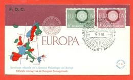 EUROPA - EUROPE-BELGIO CEPT 1960 - FDC