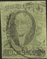J) 1861 MEXICO, HIDALGO, UN REAL, NO DISTRICT NAME, CIRCULAR CANCELLATION, MN - Mexico