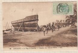 9AL1449 CONAKRY PLAGE DE BOULDINE CHANTIERS DES TRAVAUX PUBLICS 2 SCANS - Guinée Française