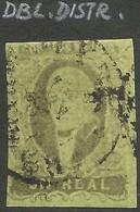 J) 1861 MEXICO, HIDALGO, UN REAL, DOUBLE DISTRICT, CIRCULAR CANCELLATION, MEXICO GOTHIC, MN - Mexico