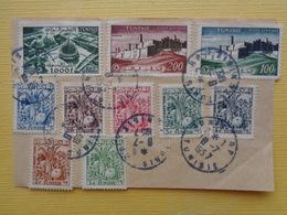 DEVANT DE LETTRE AVEC P.A N° 19 , 20 & 21 + TAXES 66,67,68,69,71,72 & 73 - Tunisia (1888-1955)