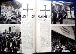 ENTREVAUX 04 PELERINAGE SAINT JEAN BAPTISTE PLAQUETTE AVEC PHOTOGRAVURE ET TEXTE 6 PAGES - Vieux Papiers