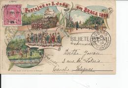 BRAGA  BILHETE POSTAL  1899 - Braga