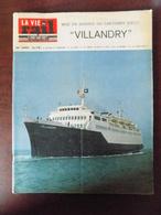 """La Vie Du Rail N° 1001 Car-ferry """"Villandry"""" - Sembadel - Le Canadel - Chartres - Colonies Vacances Ribérac - Trains"""