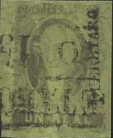 J) 1861 MEXICO, HIDALGO, UN REAL, PAIR, DISTRICT QUERETARO, BLACK BOX CANCELLATION, MN - Mexico
