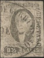 J) 1861 MEXICO, HIDALGO, 2 REALES, DISTRICT QUERETARO, SAN MIGUEL DE ALLENDE, CIRCULAR CANCELLATION, MN - Mexico