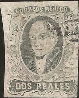 J) 1861 MEXICO, HIDALGO, 2 REALES, NO DISTRICT NAME, USED, MN - Mexico