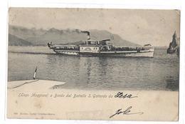 CPA Lago Maggiore A Bordo Dal Battello S Gottardo Da Lesa Esclus Luigi Grisoni Stresa Dos Non Précursé Carte Précurseur - Novara