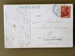 DEUTSCHES REICH > SCHWEIZ // 1906, AK Farbig, BADENWEILER BLAUENTOUR / BAHNPOST -Stempel MÜLLHEIM (BADEN) - BADENWEILER - Covers & Documents