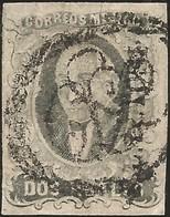 J) 1861 MEXICO, HIDALGO, 2 REALES, DISTRICT SAN LUIS POTOSI, CIRCULAR CANCELLATION, MN - Mexico