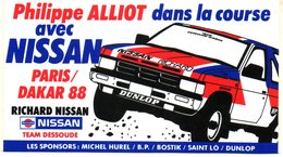Autocollant NISSAN PARIS DAKAR 88 PHILIPPE ALLIOT - Autocollants