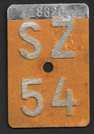 Velonummer Schwyz SZ 54 - Number Plates