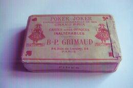 Ancien Jeu De 53 Cartes POKER JOKER WHIST B-P GRIMAUD, Exposition Universelle 1900 Cartes Dites Opaques Paquet Intact - 54 Cartes