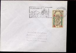 Flamme Concordante Mont Saint Michel Mayenne 53 - Marcophilie (Lettres)