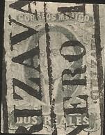 J) 1861 MEXICO, HIDALGO, 2 REALES, BLACK BOX, ORIZAVA DISTRICT, MN - Mexico