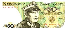 Billets > Pologne 50Zlotych  1988 - Pologne