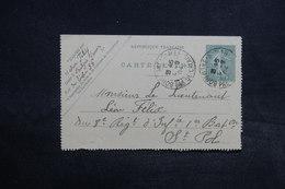 FRANCE - Entier Postal Carte Lettre Type Semeuse De Boulogne / Mer Pour St Pol En 1904 - L 32244 - Postal Stamped Stationery