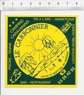 Autocollant Sticker Publicité Camping-Caravaning Le Carbonnier Saint-Martial De Nabirat  21ADH18 - Autocollants