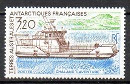 "TAAF. N°158 De 1991. Chaland ""L'Aventure"". - Polare Shiffe & Eisbrecher"