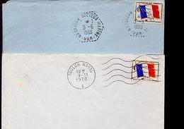 Lettre Oblitérations Toulon Naval + Toulon Secteur Marine - Marcophilie (Lettres)