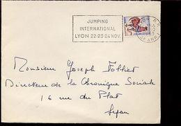 Flamme Jumping International De Lyon Rhône 69 - Marcophilie (Lettres)