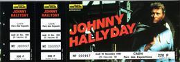 - Ticket De Concert - Johnny Hallyday - Caen 1990 - - Concert Tickets