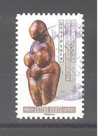 France Autoadhésif Oblitéré (Le Nu Dans L'art - Paléolithique Supérieur) (cachet Rond) - France