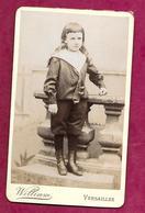 PHOTO CDV De WILLIAM à VERSAILLES (78). ENFANT De La Bourgeoisie, MODE, TOILETTE..2 Scans - Fotos