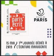 France 2019 Collector Lettre Verte Paris'écrit + Carte Postal MNH / Neuf** - Collectors