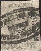J) 1861 MEXICO, HIDALGO, 2 REALES, NICE STRIKE, GENERAL DILIGENCES, MEXICO DISTRICT, MN - Mexico