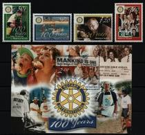 Norfolk-Insel 2005 - Mi-Nr. 899-902 & Block 49 ** - MNH - Rotary - Norfolkinsel