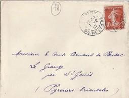 78 - SEINE ET OISE (YVELINES) - POISSY -  TàD De Type  A3 De 1913 - Poststempel (Briefe)