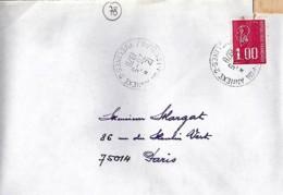 78 - SEINE ET OISE (YVELINES) - 78.POISSY Ppal An.3 -  TàD De Type  A9 De 1986 - Poststempel (Briefe)