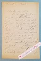 L.A.S Eugène LAMI Peintre & Décorateur Né à Paris - Moreau - Lettre Autographe LAS - Autographes