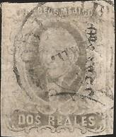 J) 1861 MEXICO, HIDALGO, 2 REALES, MEXICO GOTHIC, CIRCULAR CANCELLATION, MN - Mexico