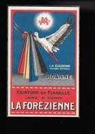 CARTE ILLUSTREE DES CEINTURES DE FLANELLE DE MARQUE LA CIGOGNE. LA FOREZIENNE. ROANNE - Ilustradores & Fotógrafos