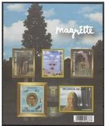 Bloc 151** René Magritte Feuille Non Dentelée - Blok 151 MNH Ongetand - Imperforated Sheet - Belgium