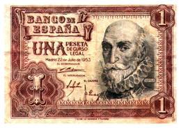 Billet  >  Espagne > 1 Peseta 1953 - [ 3] 1936-1975 : Régence De Franco