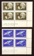 Bulgaria 1961; Space, Cosmos, Astronauts, SpaceShips; MNH /** VF; Scarce Corner Blocks!! - Space
