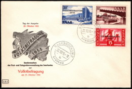 SAR SC #257-9 (Mi 362-4) 1955 Construction-related, W/ovprt FDC 10-22-1955 - 1947-56 Protectorate