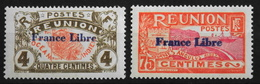 France (ex-colonies & Protectorats) Réunion (1852-1975) > 1943 N° 187 Et 188 Neuf** - Unused Stamps