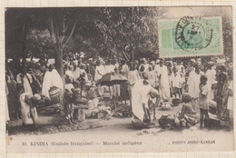 9AL1471 AFRIQUE OCCIDENTALE KINDIA GUINEE MARCHE INDIGENE 2 SCANS - Guinée Française