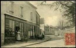 Cpa  Brunoy  épicerie  Mercerie Etc...  Rue Talma Aux Bossecons,  Animée - Brunoy