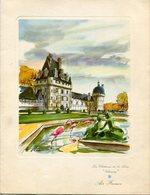 """MENU AVEC AUTOGRAPHE - LES CHATEAUX DE LA LOIRE """"VALENÇAY"""" AIR FRANCE LIGNE PARIS-BUENOS AIRES. ANNEE 1957 -LILHU - Menú"""
