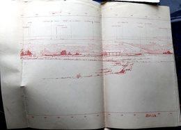 GRANDE GUERRE EXCEPTIONNEL  GRAND PANORAMA D'ARTILLERIE DE SOISSONS A BETHUNE  1,20 X 40 CM - 1914-18