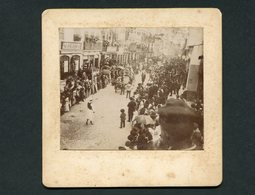 Fotografia Antiga CARRO BOIS Do HOSPITAL De COIMBRA Festa Do Centenário Da Sebenta 1899 LOJAS Salão Barbear PORTUGAL - Photos