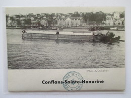 (1961)  CONFLANS SAINTE HONORINE - Péniche   -  Coupure De Presse Originale (encart Photo) - Documents Historiques