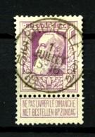 BELGIQUE - YT 80 - 2F Violet Léopold II - Oblitéré - Très Beau - 1905 Grosse Barbe
