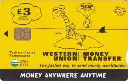 CYPRUS - Western Union 1, Tirage 60000, 01/02, Used - Cyprus